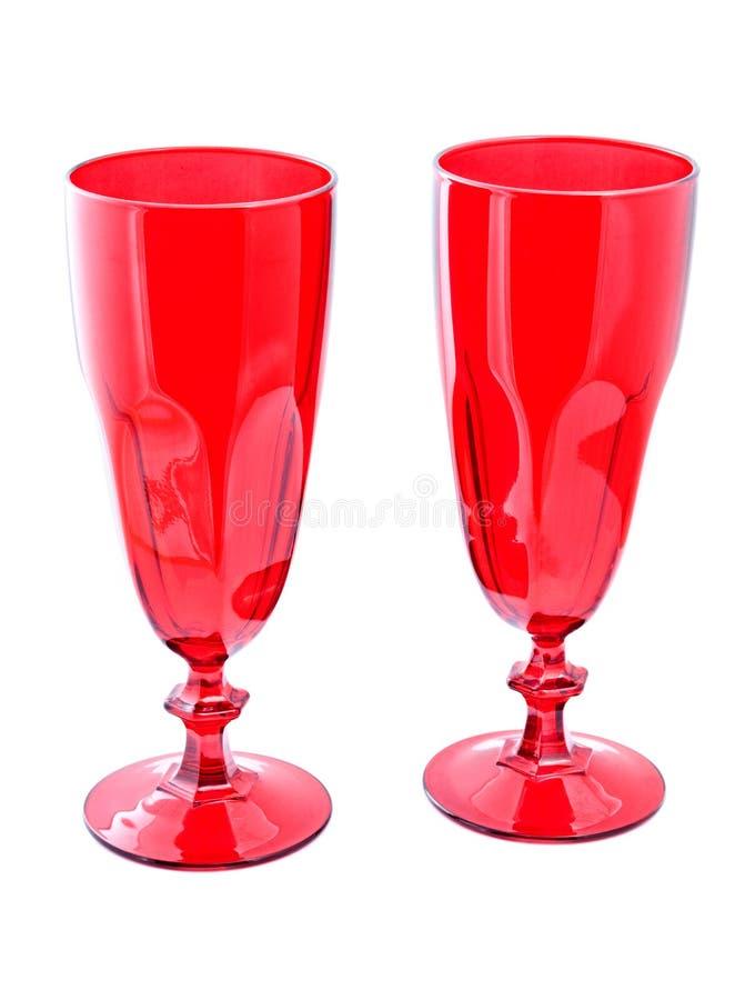 κόκκινο κρασί δύο γυαλιών στοκ εικόνες
