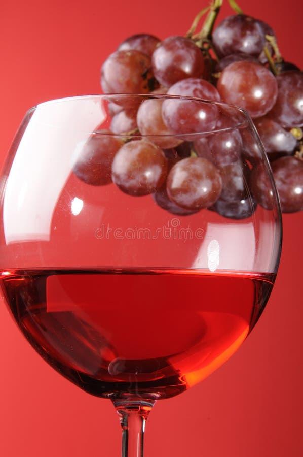 Κόκκινο κρασί και σταφύλια στοκ φωτογραφία
