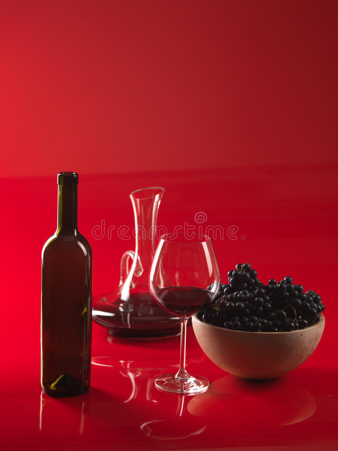 κόκκινο κρασί σταμνών σταφ&up στοκ φωτογραφίες
