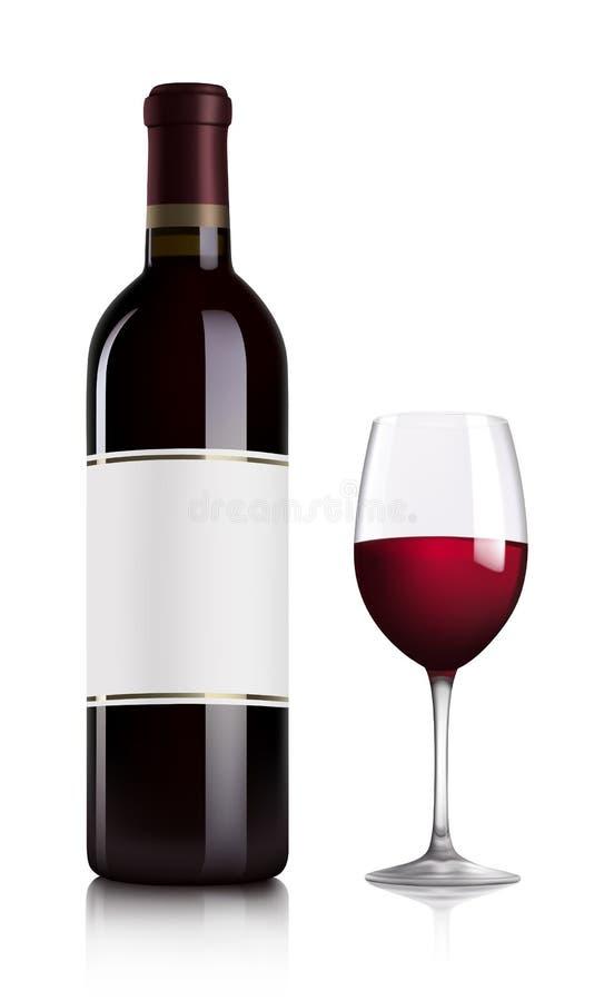 κόκκινο κρασί διανυσματική απεικόνιση