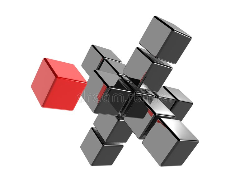 κόκκινο κύβων απεικόνιση αποθεμάτων