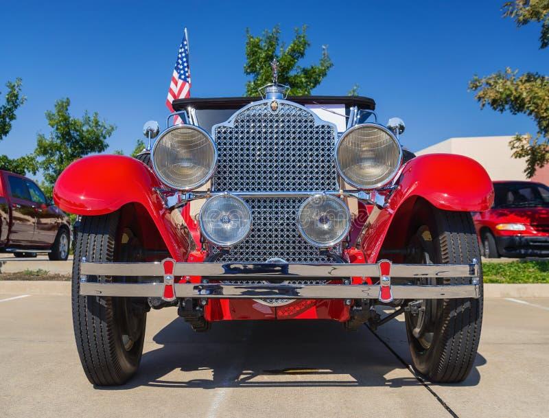Κόκκινο κλασικό αυτοκίνητο Packard του 1929 στοκ φωτογραφία
