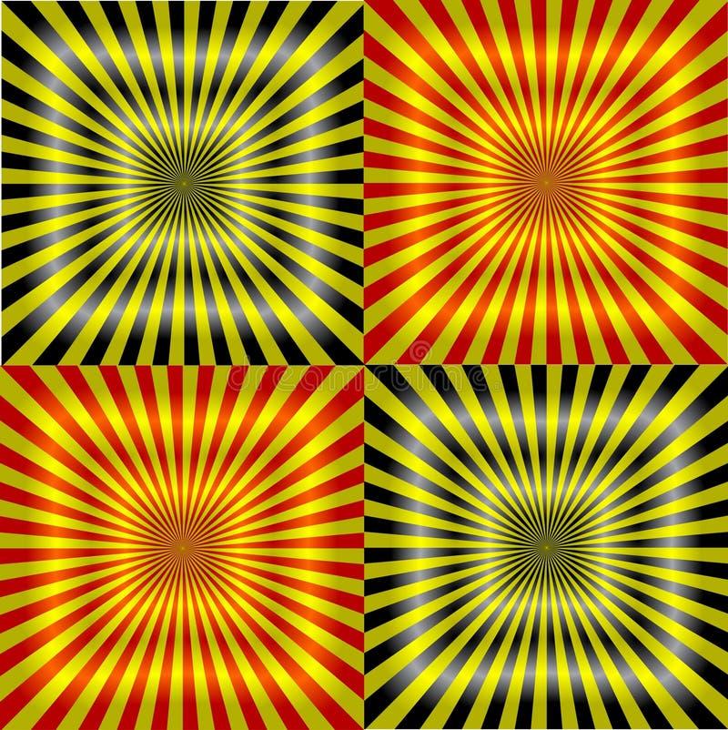 κόκκινο λευκό ακτίνων πρ&omicron απεικόνιση αποθεμάτων