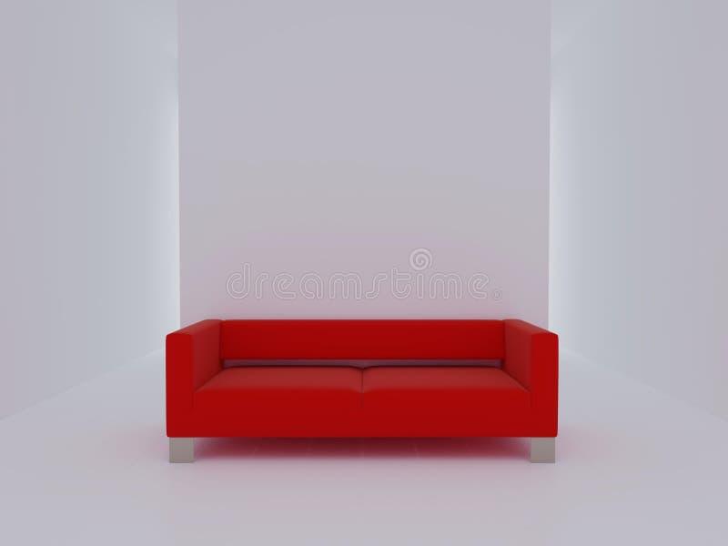 κόκκινο λευκό καναπέδων &del απεικόνιση αποθεμάτων
