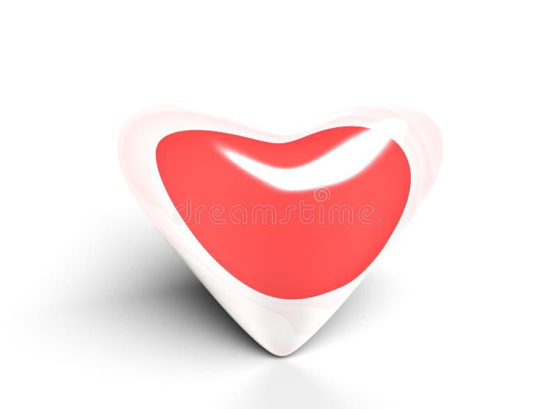 κόκκινο λευκό καρδιών απεικόνιση αποθεμάτων