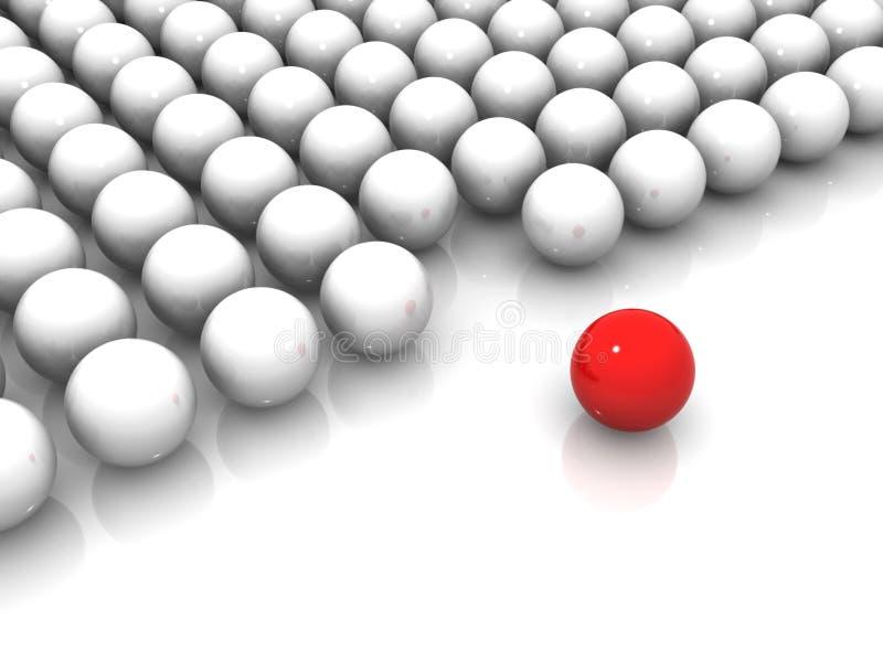 κόκκινο λευκό σφαιρών απεικόνιση αποθεμάτων