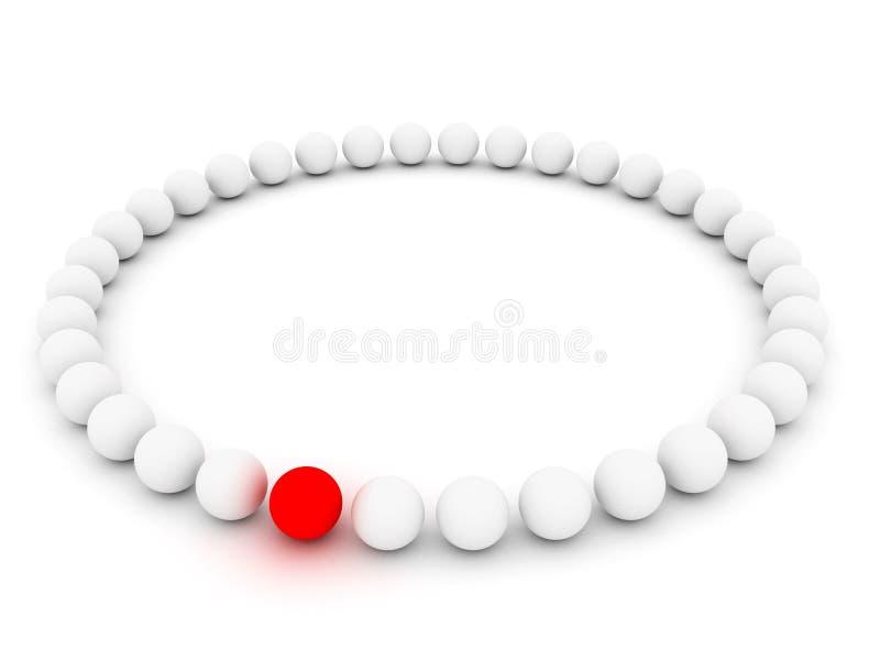 κόκκινο λευκό σφαιρών ελεύθερη απεικόνιση δικαιώματος