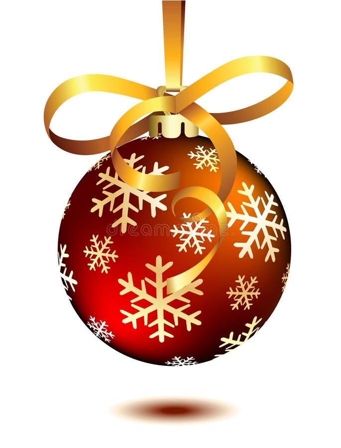 κόκκινο λευκό Χριστουγέννων σφαιρών ελεύθερη απεικόνιση δικαιώματος