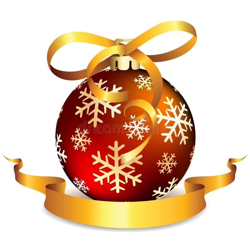 κόκκινο λευκό Χριστουγέννων σφαιρών απεικόνιση αποθεμάτων