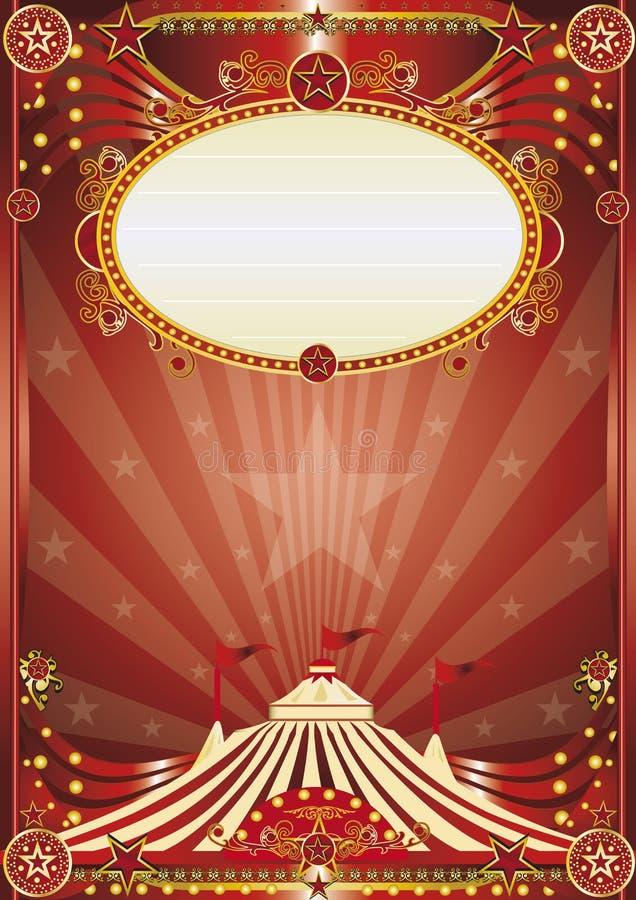 Κόκκινο μαγικό υπόβαθρο τσίρκων διανυσματική απεικόνιση