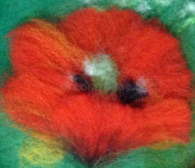 Κόκκινο μαλλιού λουλουδιών στοκ εικόνα