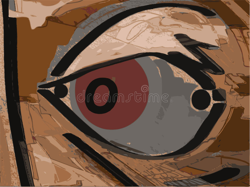 κόκκινο ματιών διανυσματική απεικόνιση
