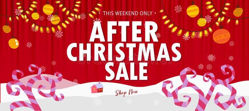 Κόκκινο μετά από την πώληση Χριστουγέννων ελεύθερη απεικόνιση δικαιώματος