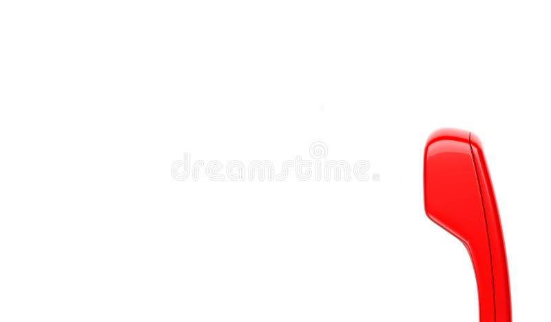 Κόκκινο μικροτηλέφωνο απεικόνιση αποθεμάτων