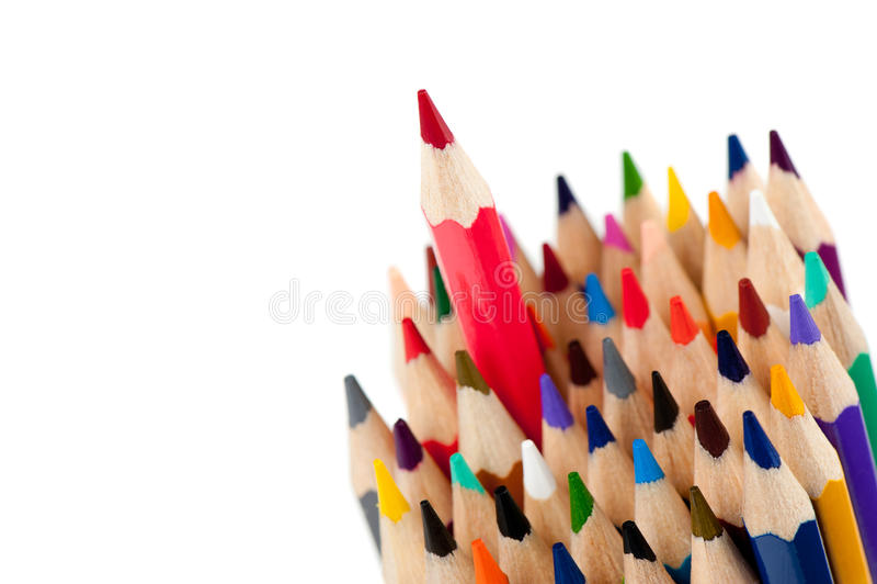 κόκκινο μολυβιών ηγετών στοκ φωτογραφίες με δικαίωμα ελεύθερης χρήσης