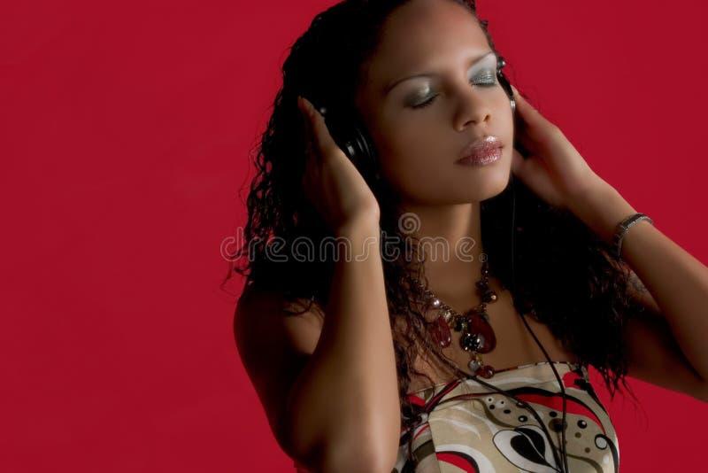 κόκκινο μουσικής ομορφ&iot στοκ εικόνες