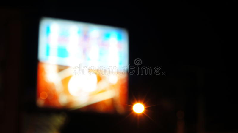 Κόκκινο μπλε λευκό σημαδιών νέου Unfocused στοκ φωτογραφία με δικαίωμα ελεύθερης χρήσης