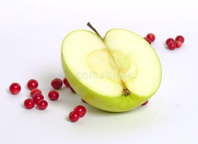 κόκκινο μυρτίλλων μήλων στοκ φωτογραφία