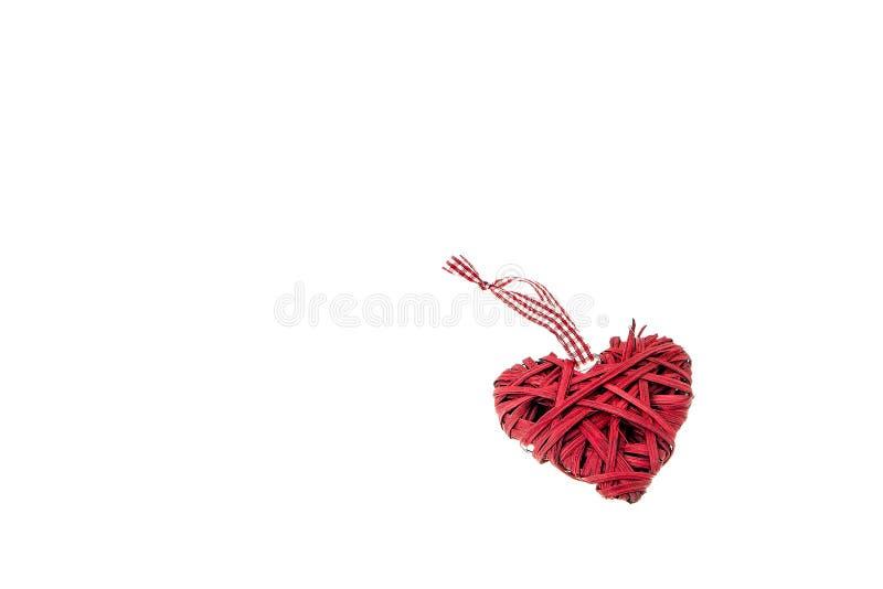 Κόκκινο ντεκόρ καρδιών βαλεντίνων Αγίου - σύμβολο αγάπης στοκ εικόνες