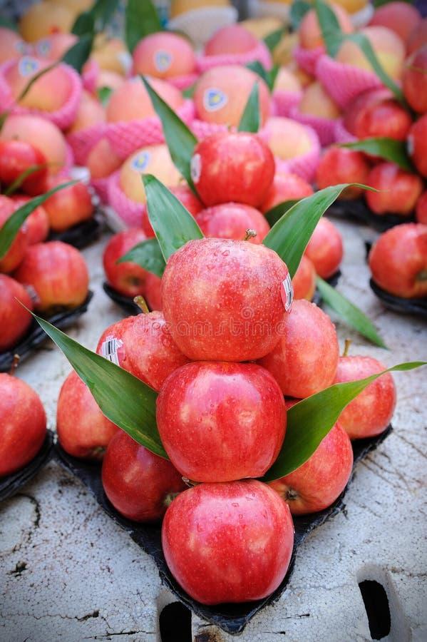 κόκκινο νωπών καρπών μήλων στοκ φωτογραφία με δικαίωμα ελεύθερης χρήσης