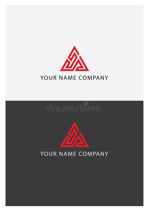 Κόκκινο λογότυπο τριγώνων στοκ φωτογραφία με δικαίωμα ελεύθερης χρήσης