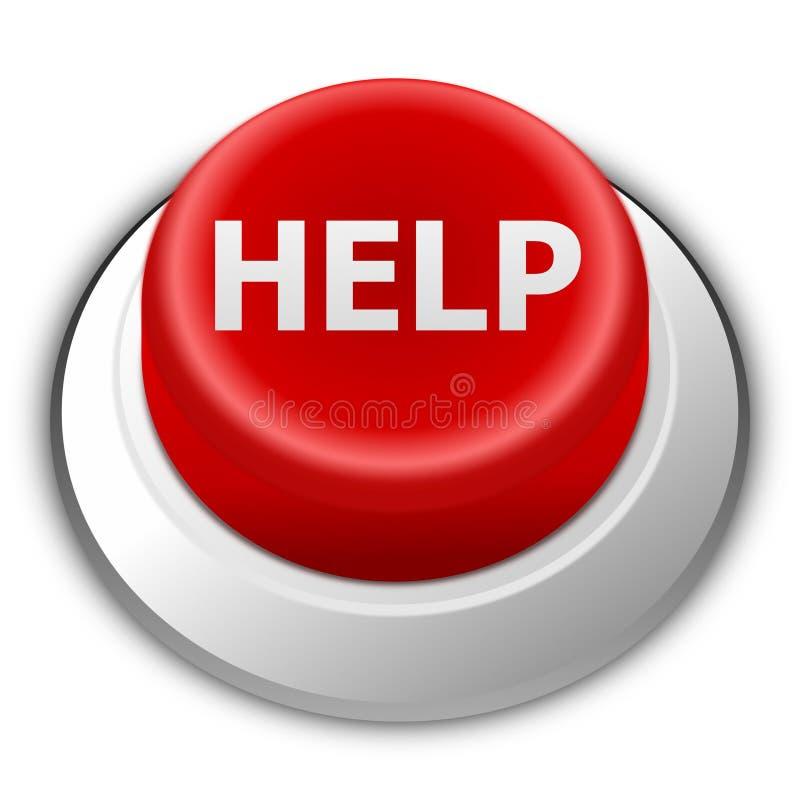 κόκκινο οδηγιών κουμπιών ελεύθερη απεικόνιση δικαιώματος