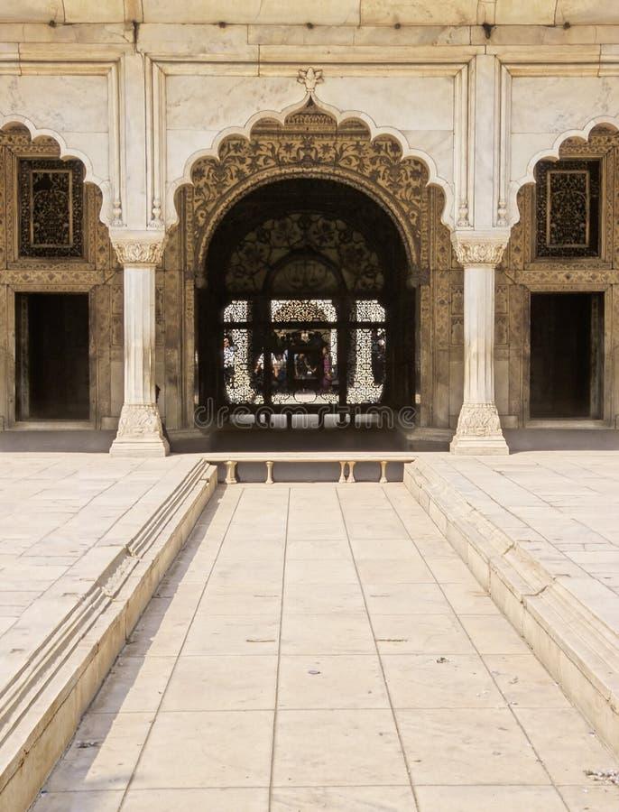 κόκκινο οχυρών του Δελχί στοκ φωτογραφίες