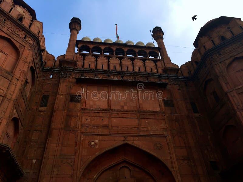 κόκκινο οχυρών του Δελχί στοκ εικόνες