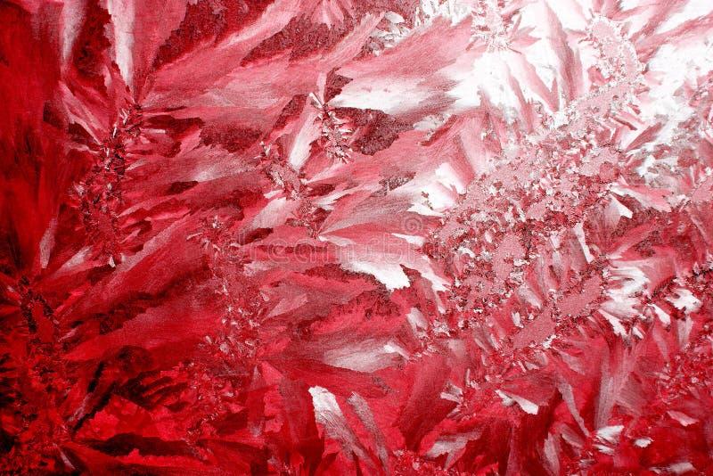 κόκκινο παγετού ανασκόπη&si στοκ εικόνα με δικαίωμα ελεύθερης χρήσης