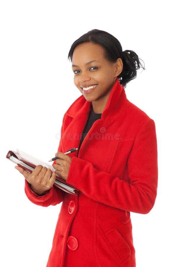 Download κόκκινο παλτών στοκ εικόνα. εικόνα από επιχείρηση, πέννα - 17058673