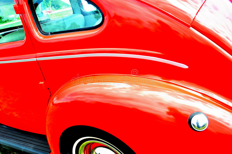 Κόκκινο παλαιό υπόβαθρο αυτοκινήτων στοκ φωτογραφίες με δικαίωμα ελεύθερης χρήσης