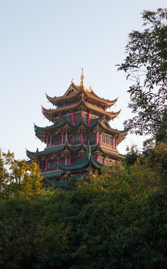 Κόκκινο περίπτερο, αρχιτεκτονική παραδοσιακού κινέζικου, EN ναός της Hong στοκ φωτογραφία με δικαίωμα ελεύθερης χρήσης