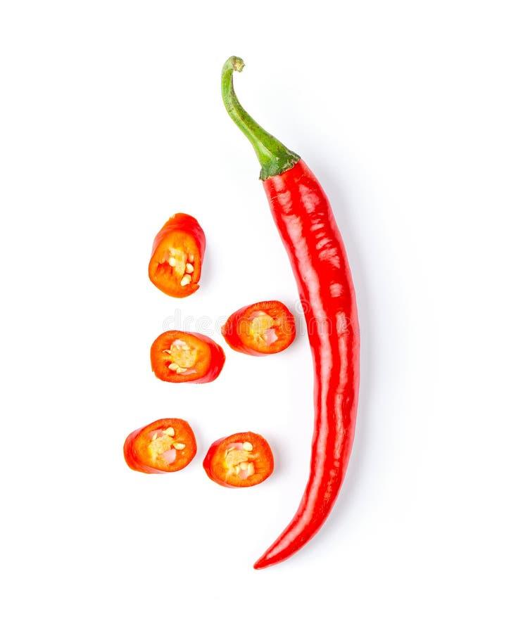 Κόκκινο πιπέρι τσίλι που απομονώνεται στο άσπρο υπόβαθρο r στοκ φωτογραφία