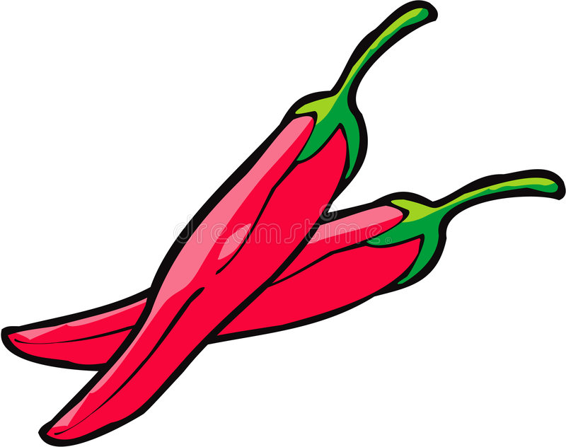 κόκκινο πιπεριών διανυσματική απεικόνιση
