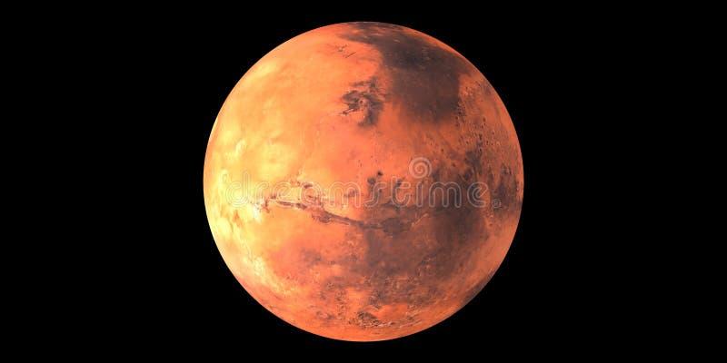Κόκκινο πλανητών του Άρη στο διαστημικό μαύρο υπόβαθρο διανυσματική απεικόνιση