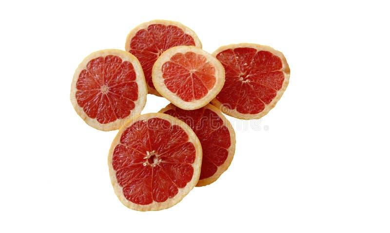 Κόκκινο πορτοκάλι στους ρόλους σε ένα άσπρο υπόβαθρο στοκ εικόνες