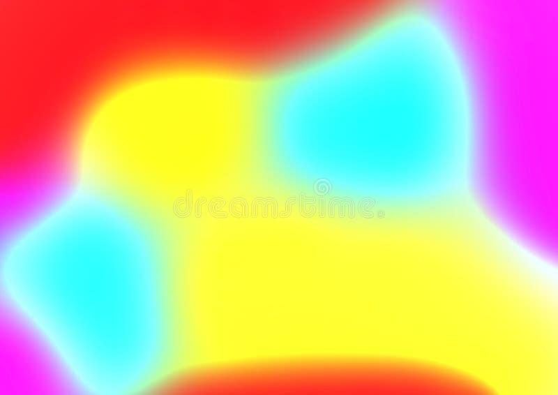 Κόκκινο πορτοκαλί κίτρινο μπλε φωτεινό υπόβαθρο σύστασης watercolor εμβλημάτων κλίσης ζωηρόχρωμο οριζόντιο απεικόνιση αποθεμάτων