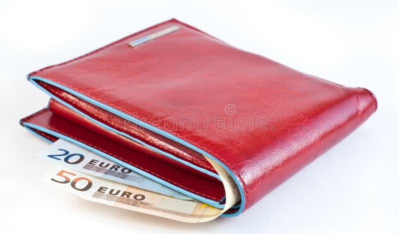 κόκκινο πορτοφόλι στοκ εικόνα