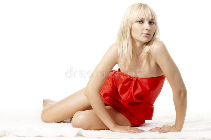 κόκκινο πορτρέτου κοριτ&si στοκ εικόνες