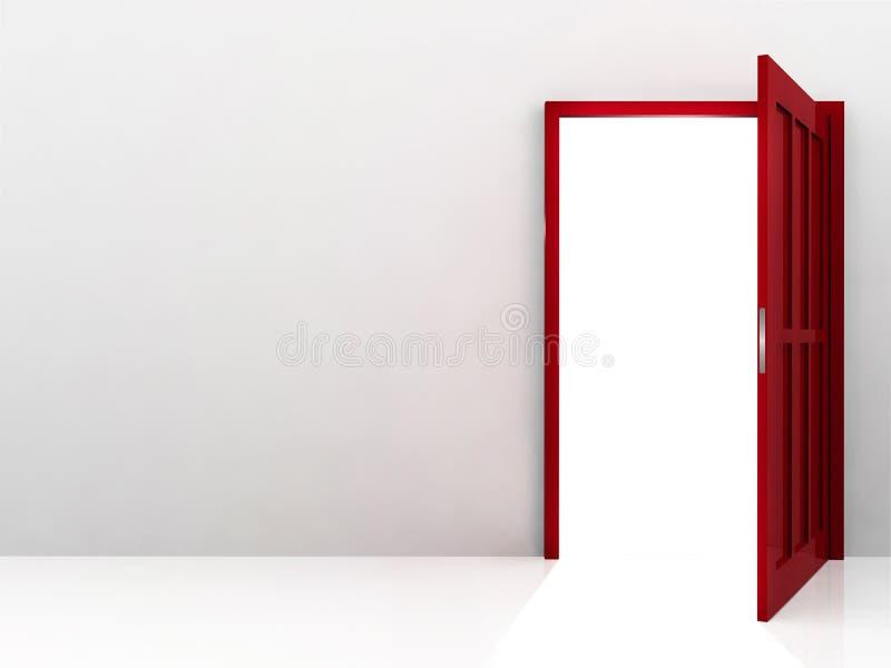 κόκκινο πορτών ελεύθερη απεικόνιση δικαιώματος