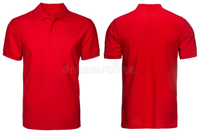 Κόκκινο πουκάμισο πόλο, ενδύματα στοκ φωτογραφία