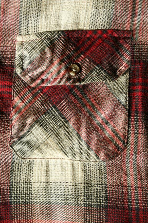 κόκκινο πουκάμισο τσεπών  στοκ εικόνα με δικαίωμα ελεύθερης χρήσης