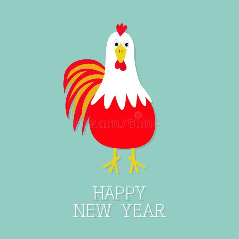 Κόκκινο πουλί κοκκόρων κοκκόρων 2017 κινεζικό ημερολόγιο συμβόλων καλής χρονιάς ελεύθερη απεικόνιση δικαιώματος