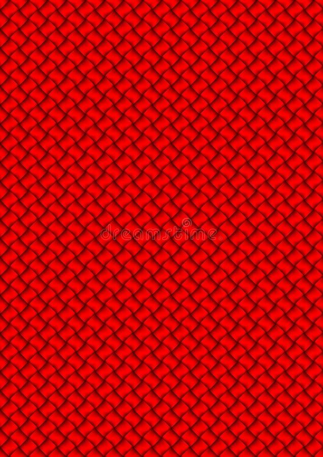 κόκκινο που υφαίνεται διανυσματική απεικόνιση