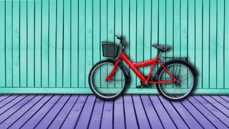 κόκκινο ποδηλάτων στοκ εικόνα