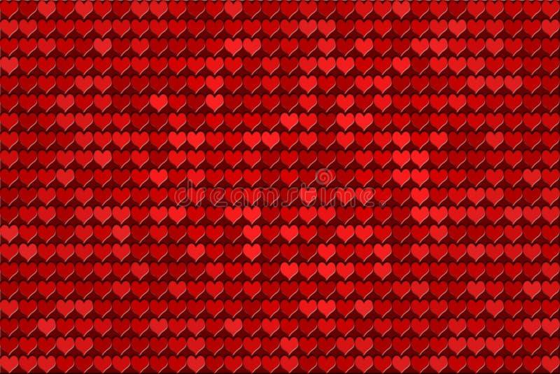 κόκκινο προτύπων καρδιών ελεύθερη απεικόνιση δικαιώματος