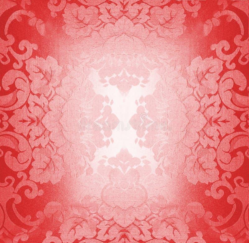 κόκκινο προτύπων υφάσματο& στοκ εικόνες