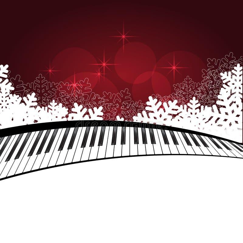 Κόκκινο πρότυπο με το πιάνο διανυσματική απεικόνιση