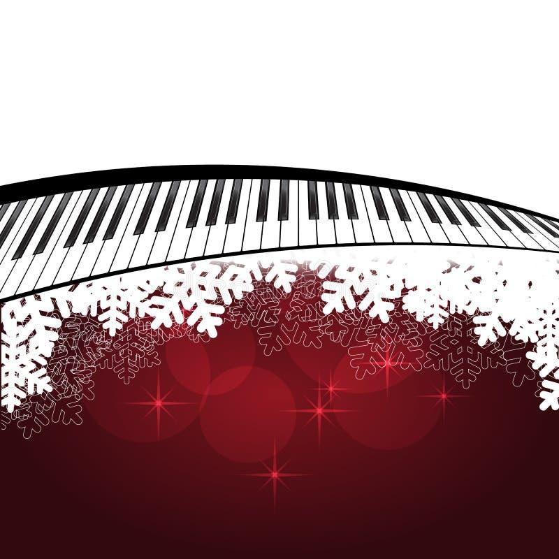 Κόκκινο πρότυπο με το πιάνο απεικόνιση αποθεμάτων