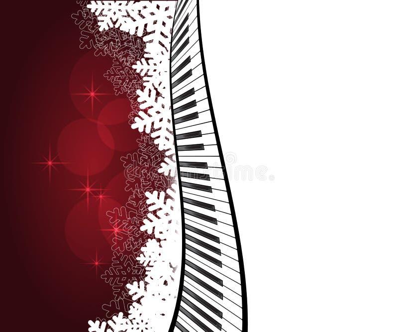 Κόκκινο πρότυπο με το πιάνο ελεύθερη απεικόνιση δικαιώματος